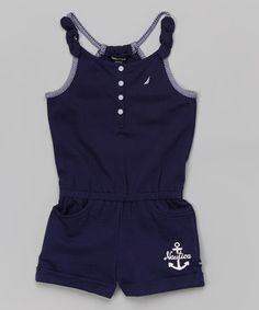 Love this Navy Anchor Romper - Infant, Toddler & Girls by Nautica on #zulily! #zulilyfinds