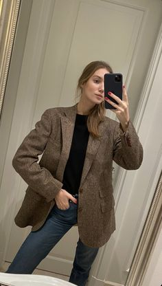 Blazer Outfits, Preppy Outfits, Classic Outfits, Cool Outfits, Fall Outfits For Work, Fashion 101, Aesthetic Clothes, Timeless Fashion, Autumn Winter Fashion