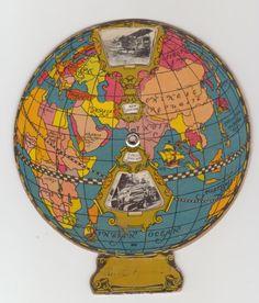 ✔ 1929 Advertising Caterpillar Tractors Spinning Paper World Globe Cat B w Photos | eBay
