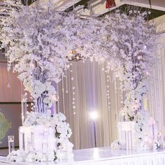 A perfect backdrop to any wedding cake. Wedding Stage Decorations, Wedding Themes, Wedding Centerpieces, Wedding Images, Wedding Reception Backdrop, Wedding Ceremony, Wedding Venues, Purple And Silver Wedding, Wedding Stage Design