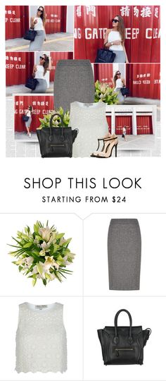 """Mondays"" by bklana ❤ liked on Polyvore featuring Austin Reed, Parisian, CÉLINE and Charlotte Russe"