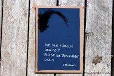 Handgemachte Karte FrauSchweizer:  Kondolenzkarte, Trauer, Tod, Sterbefall