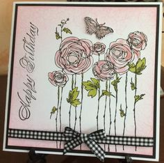 Pink Ranunculus by Michele G - Cards and Paper Crafts at Splitcoaststampers