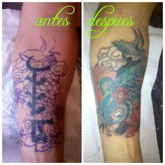 Tattoo koi fish. Cover up