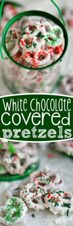 White Chocolate Covered Pretzels - Step by step instructions on how to get perfectly dipped pretzels every time! Decorate in your team colors for football!