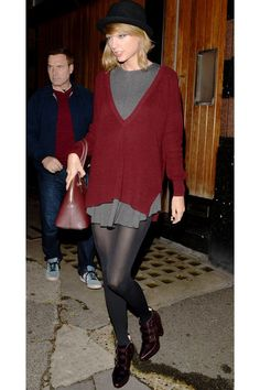 Taylor Swift's Best Outfits You Can Actually Buy #refinery29  http://www.refinery29.com/2014/12/79340/taylor-swift-best-outfits#slide-6  Taylor's gallery-hopping look is arty enough with its muted color palette and baggy fit — but it's also polished enough for a night out in London town. Free People Ballet Fit and Flare, $78, available at Free People; 525...