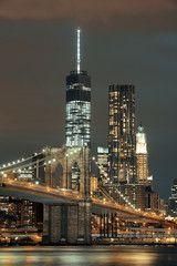 Manhattan at night Willis Tower, Skyline, City, Building, Manhattan, Night, Buildings, Cities, Construction