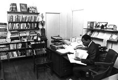 Martin Luther King, Jr.  (activist, icon, civil rights leader)  In his office.  (Thanks to: Lipstick Alley)