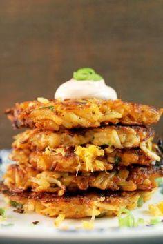 Not Your Mama's Latkes!: Potato and Cheese Latkes