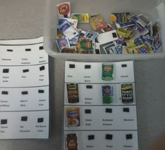 A grocery task box is something that can be adjusted to different learning levels.