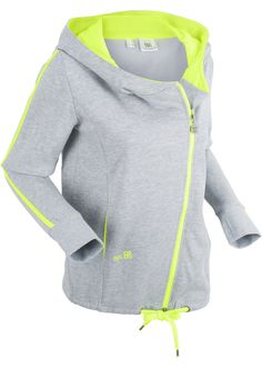 Gilet sweat-shirt long gris clair chiné - bpc bonprix collection - bonprix.fr