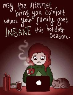 comfort in internet holiday season.