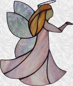 I'm going to make this for a dear friend as soon as the cabin window is finished. Stained Glass Angel, Stained Glass Ornaments, Stained Glass Christmas, Stained Glass Crafts, Faux Stained Glass, Stained Glass Designs, Stained Glass Patterns, Leaded Glass, Stained Glass Windows
