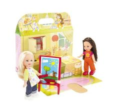 Kelly & Friends: Art Surprise by Mattel. $29.99. From the Manufacturer                The Kelly and Friend Assortment includes Soggy Doggy Friends and Art Surprise Friends. Pop-out play scenes and two dolls included in each! In Soggy Doggy, Kelly and a friend have fun giving puppy a bath. When girls rub puppy with warm water the puppy's dirty spots disappear! Then rub puppy with cold water and they re-appear! In Art Surprise Friends, Kelly and her friend also love to paint. ...