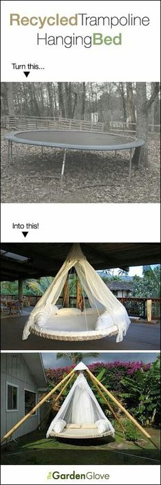Cool Idea for unused trampoline!! YES!