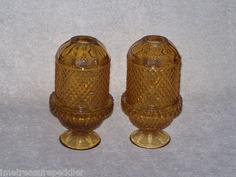 Amber Viking Art Glass Diamond Point Fairy Lamp Glimmer 1 or 2 Available | eBay