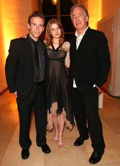 """Alan Rickman, Rachel Hurd-Wood, her boyfriend. After show party of the premiere of the film """"Perfume.The Story of The Murdererr"""" (Sep 7, 2006 - Munich, Germany)"""