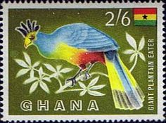 Ghana 1959 SG 223 Bird Great Blue Turaco Fine Mint SG 223 Scott 58 Condition Fine MNHOnly one post charge applied on multipul purchases