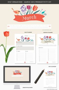 Free March 2015 Productivity Kit {Facebook like or tweet required}