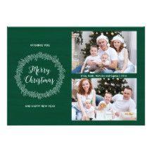 Christmas Wreath Holiday Photo Card