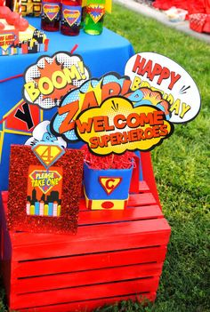 Superman Birthday Party Power BURSTS Super by KROWNKREATIONS, $3.50