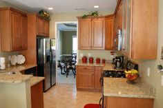 A smaller kitchen that has an elegant look while keeping the budget in mind.