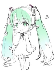 Hidekaz Himaruya's blog drawing of the VOCALOID Hatsune Miku (the author of Axis Powers Hetalia)
