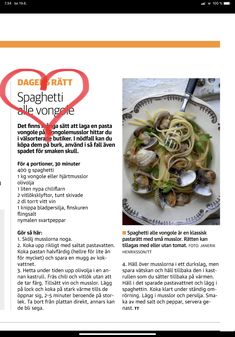 Spagetti vongole Love Food, Cabbage, Spaghetti, Vegetables, Veggies, Cabbages, Vegetable Recipes, Spaghetti Noodles, Kale