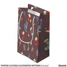 Get full color Winter gift bags from Zazzle. Each one of our gift bags is decorated with fantastic designs, images, or artwork. Winter Clothes, Winter Outfits, Christmas Design, Gift Bags, Illustration, Artwork, Pattern, Gifts, Color