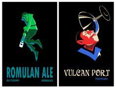 Star Trek Beverages, Romulan Ale and Vulcan Port