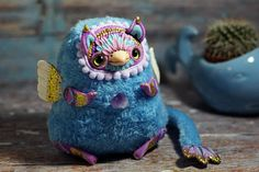 Ooak doll Griffin art collectible fantasy doll polymer clay