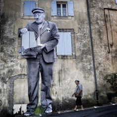 JR & the French filmmaker Agnès Varda  Bonnieux, France