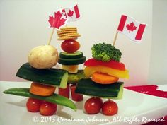 Need an idea for a Canadian themed party appetizer? Make these super cute and delicious edible Inukshuk statues modeled after the magnificent stone monuments built by the Inuit people. Canada Day Party, Canada Day 150, O Canada, Canada Day Fireworks, Canada Day Crafts, Canada Holiday, Canadian Food, Bbq Party, Summer Recipes