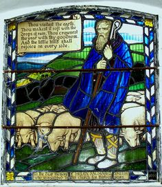 Stained glass window in Steyning Church, West Sussex - he image of the Good Shepard has always been my favorite.In my imagination I can stand and meditate before this beautiful window. Thank you @Lynda Wood Wood Aplin for this pin.