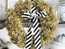 Jones Design Company ... Top DIY Project ... tissue pom wreath
