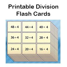 8 Best DIVISION FLASH CARDS images | Division flash cards ...