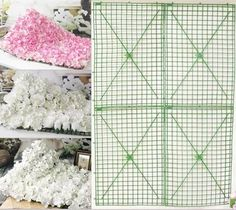 I am stoked! This is so gonna come in handy when I'm ready to DIY my wedding decor, who knew such a thing even existed?! Plastic Artificial Flower Holder For DIY Flower Wall - it's covered with tiny little nubs that once you de-stem your flowers allows you to just slip them into place.