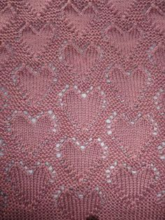 """""""Lots of Love"""" Baby Blanket: Free Knitting Pattern : for a February baby"""