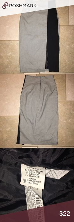 "Zara pencil skirt Excellent condition.  Machine wash cold.  Waist 24.4"". Hips 35.4""  Skirt is 28"" long and front slit is 10"" long. Zara Skirts Pencil"