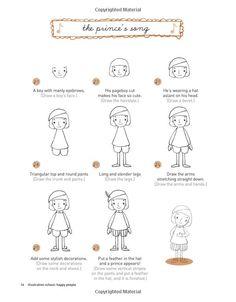 Illustration School: Let's Draw Happy People: Sachiko Umoto: 9781592536467: Amazon.com: Books