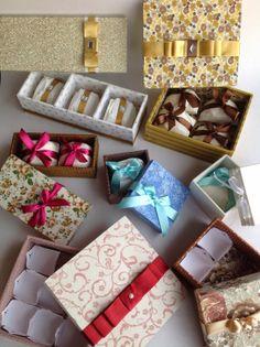 Caixas Decoradas - Casamento, Aniversário, Festas e Eventos: Caixas para Bem casados e doces