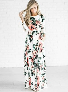 floral maxi long sleeved