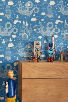 robots and fairy tales wallpaper