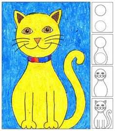 Art Projects for Kids: How to Draw a Cat