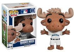 No self-respecting Seattle Mariners fan would deny him or herself this fantastic Major League Baseball Mariner Moose Pop! Vinyl Figure! Whether you want to keep it in your jacket for good luck as take in a game at Safeco Field or you'd rather prop the moose up on your desk at work to show a little pride, you'll love just how useful this guy can be. Measures 3 3/4-Inch tall.  #funko #funkopop #popvinyl #toy #toyfigure