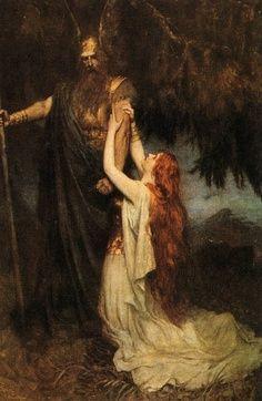 Odin and Bruhild, Ferdinand Leeke -1890