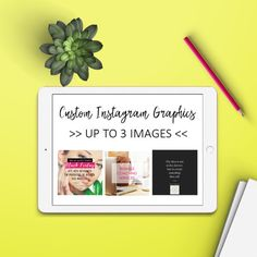 This listing is for a Custom Instagram Branding Design Set.  What is included:  > Up to 3 custom branded sharable graphics (PNG format) > Can be ads, quotes, shop announcements, etc...   After purchasing youll receive an email (48h max) from me with a little questionnaire about your business branding needs.  As soon as I get your answers Ill start to work on your project (one or two concepts). I send what Ive created, you give me feedback and Ill revise as necessary.  Youll get your gra...
