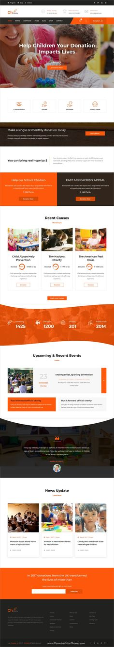 Chcharity is clean and modern design 2in1 responsive #bootstrap HTML template for #Charity, #fundraising and nonprofit organizations #website to live preview & download click on Visit