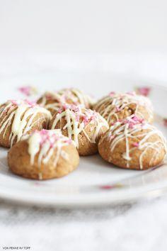 Penne im Topf: {Weihnachtsbäckerei} Marzipankartoffeln aus dem Backofen