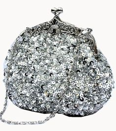 Chicastic Fully Sequined Mesh Beaded Antique Style Wedding Evening Formal Cocktail Clutch Purse - Silver Chicastic http://www.amazon.com/dp/B00A6U7476/ref=cm_sw_r_pi_dp_.Uhpwb0KNX4SB